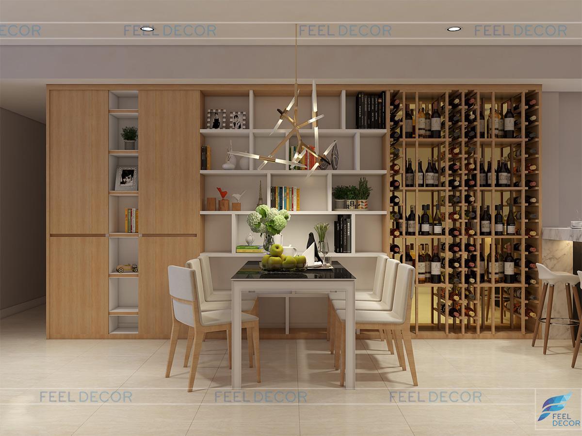 Thiết kế thi công nội thất phòng bếp chung cư Hoàng Anh Thanh Bình