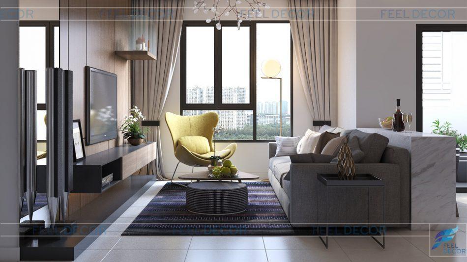 Sơ đồ mặt bằng bố trí nội thất căn hộ The Era Town chung cư Kỷ Nguyên
