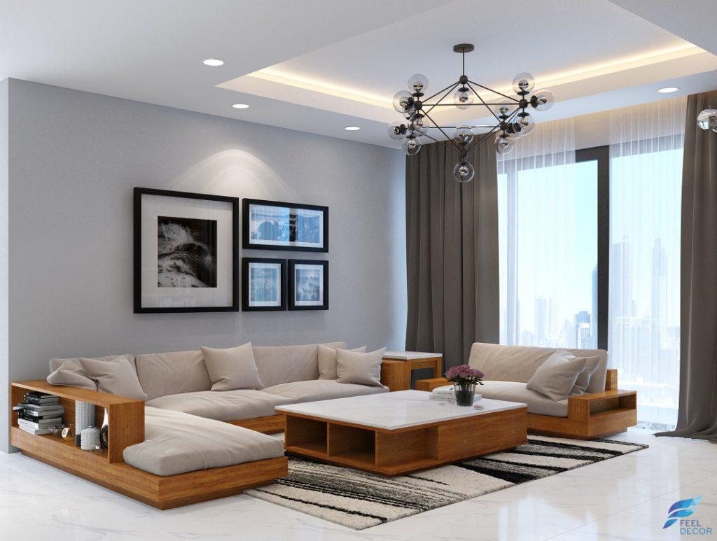 Hình ảnh mẫu thiết kế nội thất căn hộ 133m2 (3 phòng ngủ) chung cư Green Valley