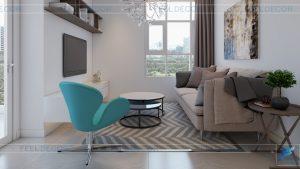 thiết kế nội thất căn hộ 117m2