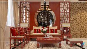 thiết kế phòng khách căn hộ 117m2 chung cư tân phước