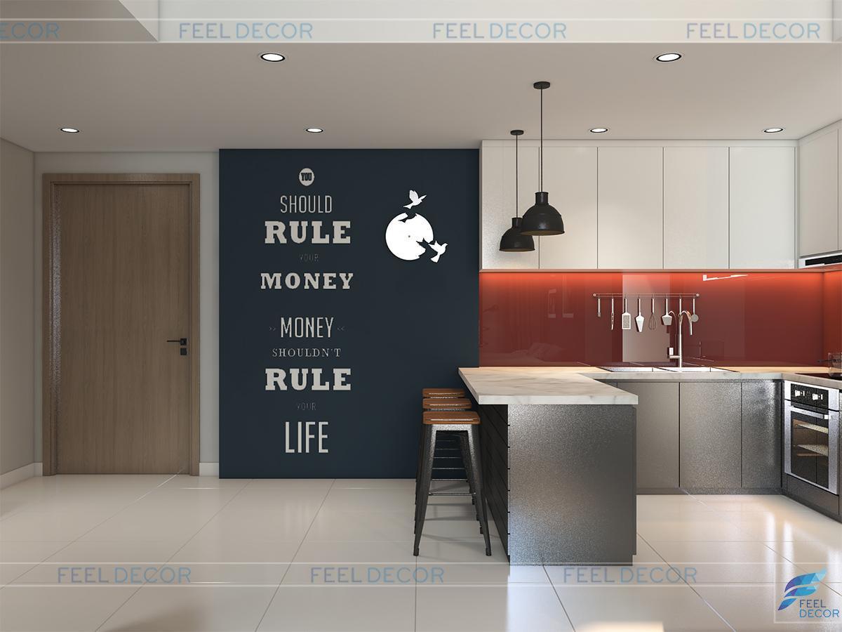 phòng bếp chung cư masteri