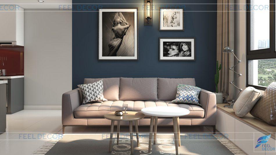 Thiết kế thi công nội thất căn hộ 73m2 2 phòng ngủ