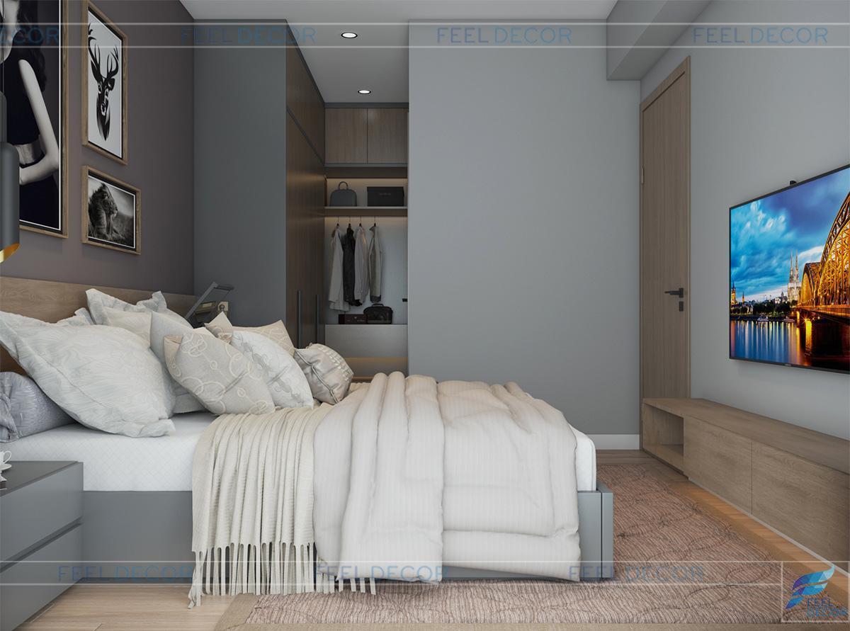 thiết kế phòng ngủ master chung cư masteri