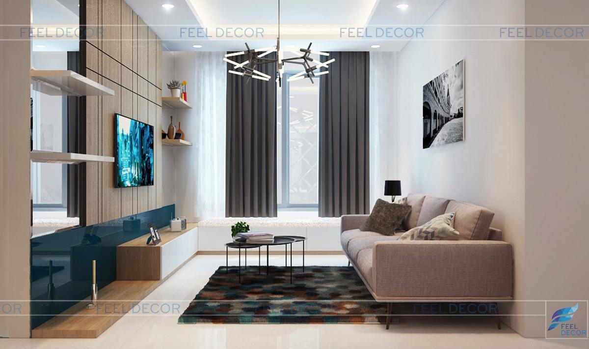 Thiết kế nội thất căn hộ 80m2 – 2 phòng ngủ tại chung cư Celadon City