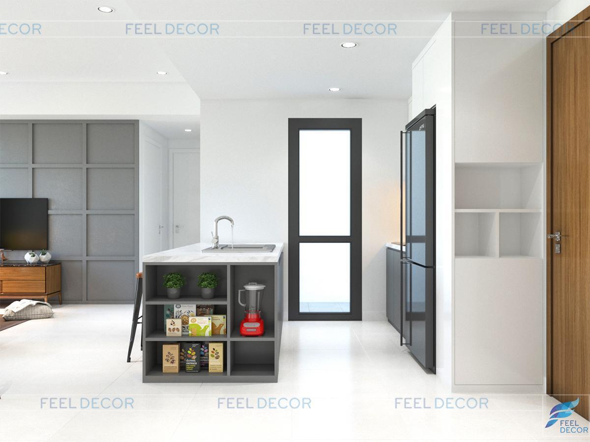 thiết kế nội thất căn hộ 80m2 chung cư Masteri sang trọng