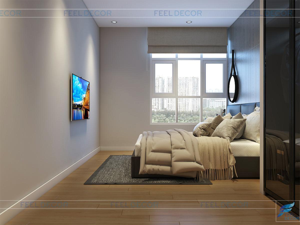 Thiết kế nội thất phòng ngủ cô con gái lớn căn hộ Penthouse chung cư Hoàng Anh Thanh Bình