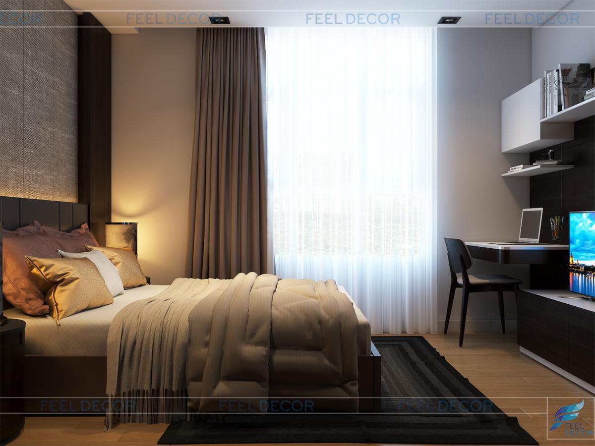 Thiết kế nội thất phòng ngủ cô con gái thứ 2 căn hộ Penthouse chung cư Hoàng Anh Thanh Bình