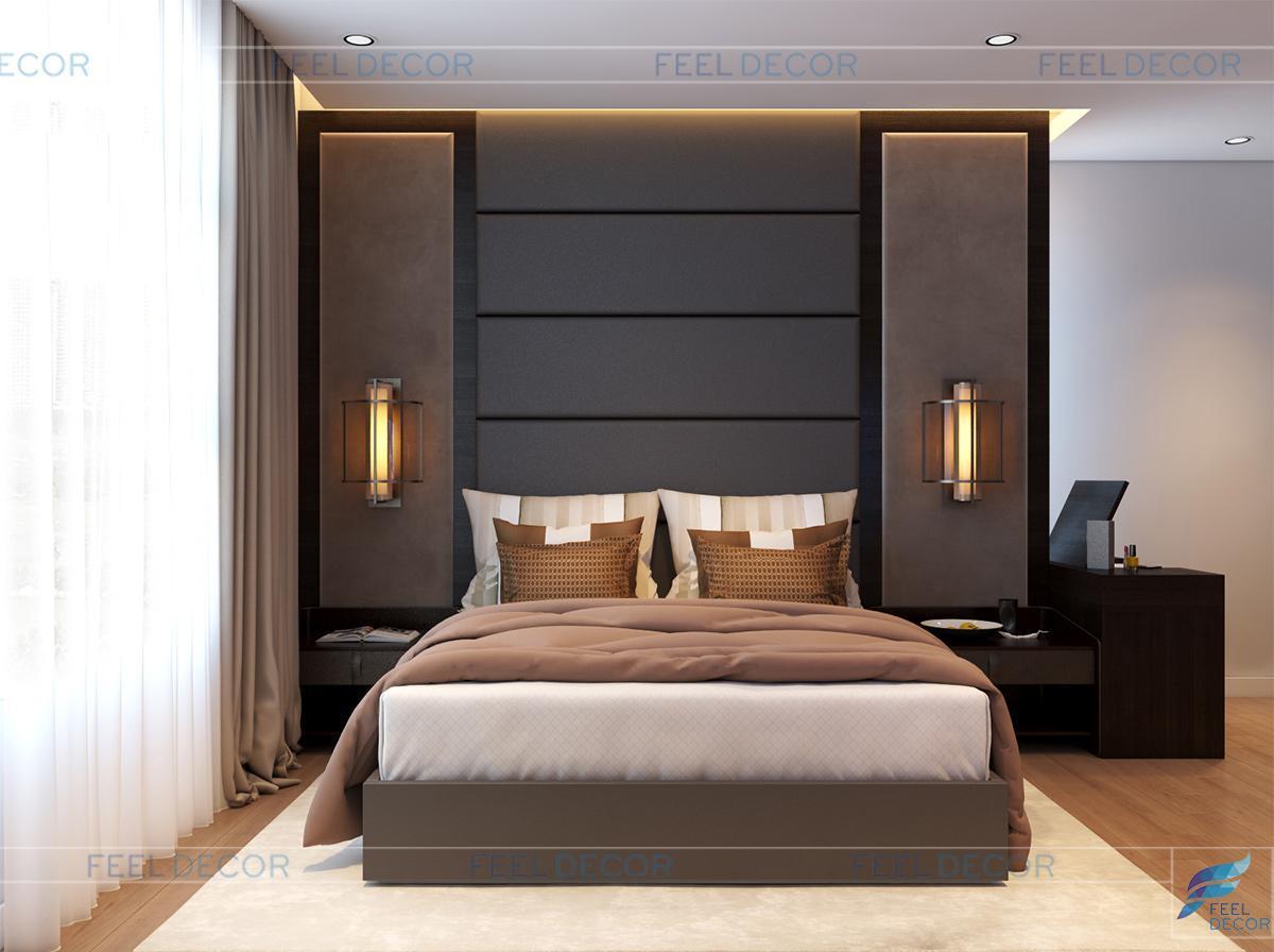 Thiết kế nội thất phòng khách căn hộ penthouse chung cư hoàng anh thanh bình