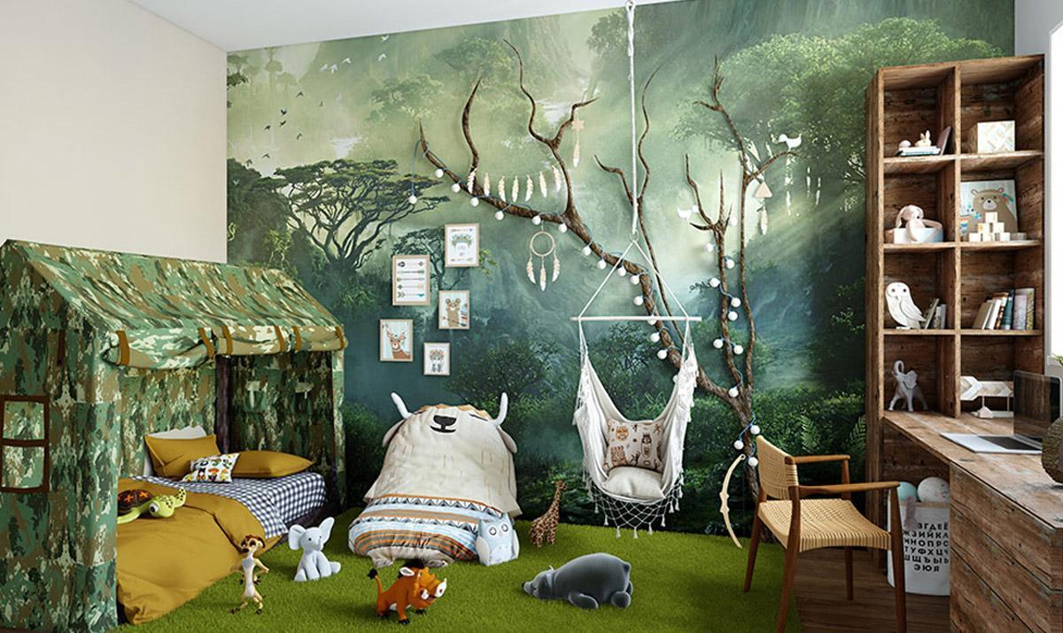 Mẫu trang trí nội thất phòng ngủ, thiết kế phòng ngủ đẹp cho bé