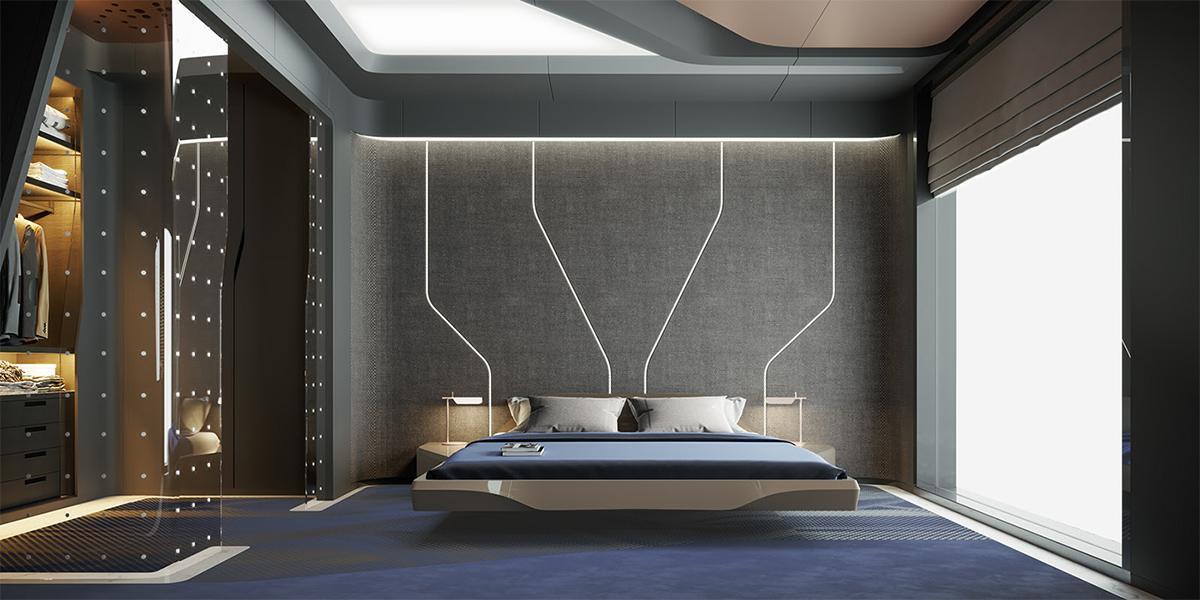 thiết kế phòng ngủ phong cách hiện đại
