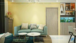 Thiết kế nội thất căn hộ 73m2 chung cư cao cấp The Everrich