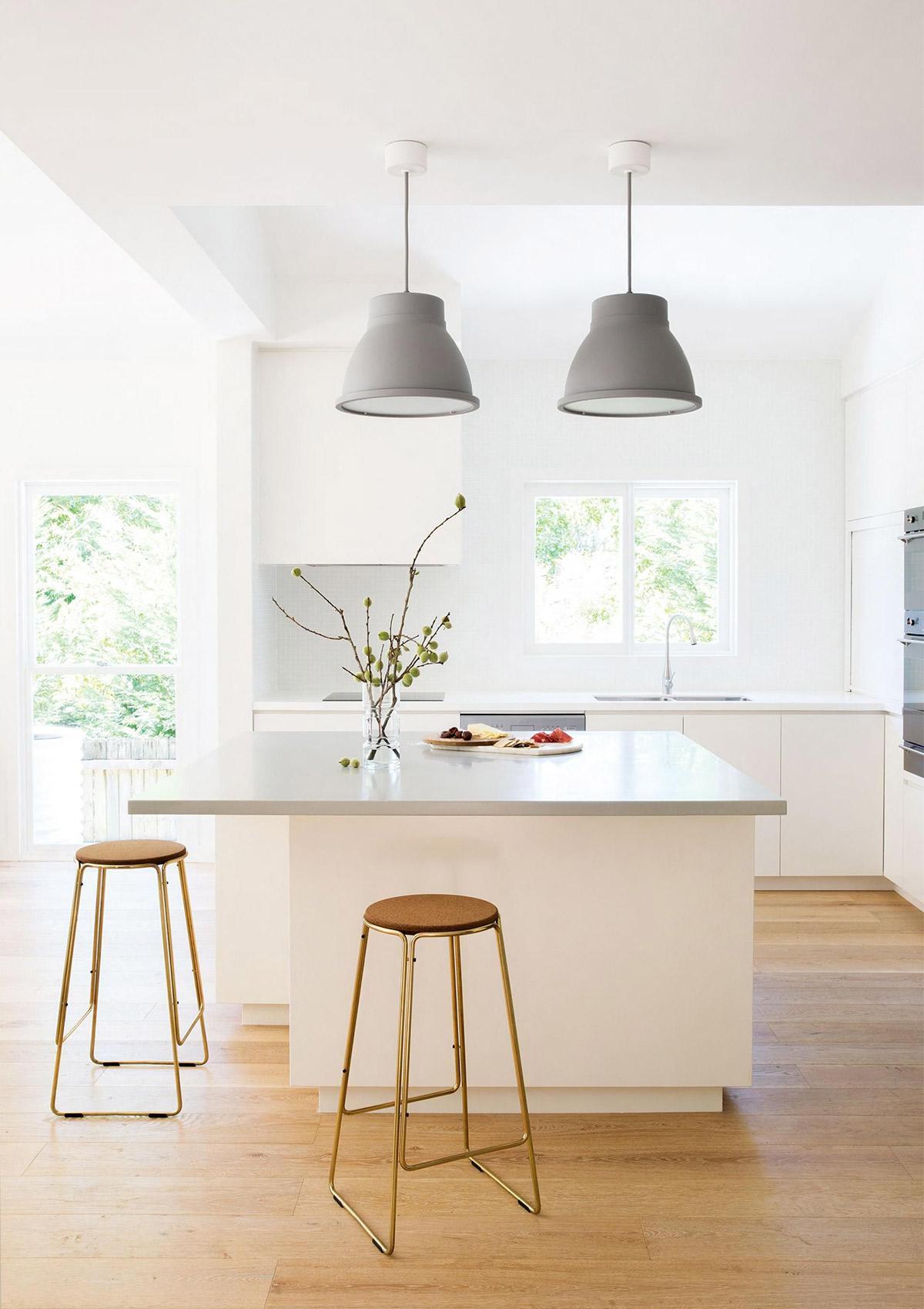 Ý tưởng thiết kế nội thất không gian căn bếp tuyệt đẹp tông màu Xám