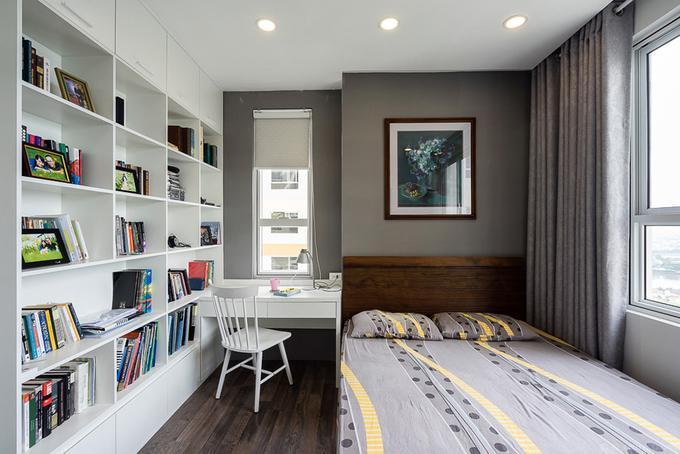 Hình ảnh: thiết kế nội thất phòng đọc sách thu nhỏ trong chung cư