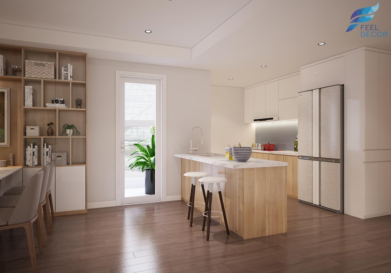 hình ảnh: thiết kế trang trí nội thất quầy bar cho căn hộ nhà ở chung cư