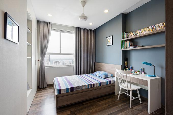 Hình ảnh: thiết kế nội thất phòng đọc sách thu nhỏ trong căn hộ chung cư 110m2