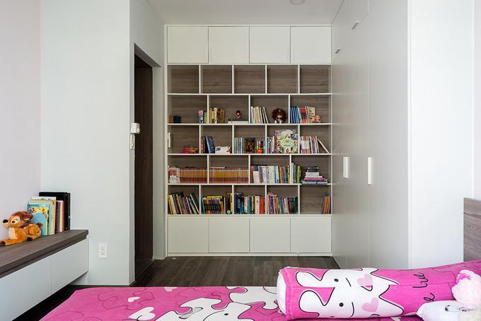 Hình ảnh: thiết kế nội thất phòng đọc sách thu nhỏ trong phòng ngủ