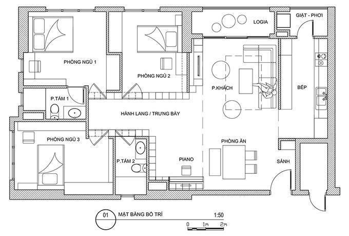Hình ảnh: thiết kế nội thất phòng đọc sách thu nhỏ trong căn hộ