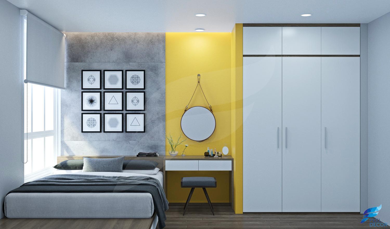 hình ảnh: thiết kế nội thất căn hộ hoàng anh thanh bình gam màu lạnh