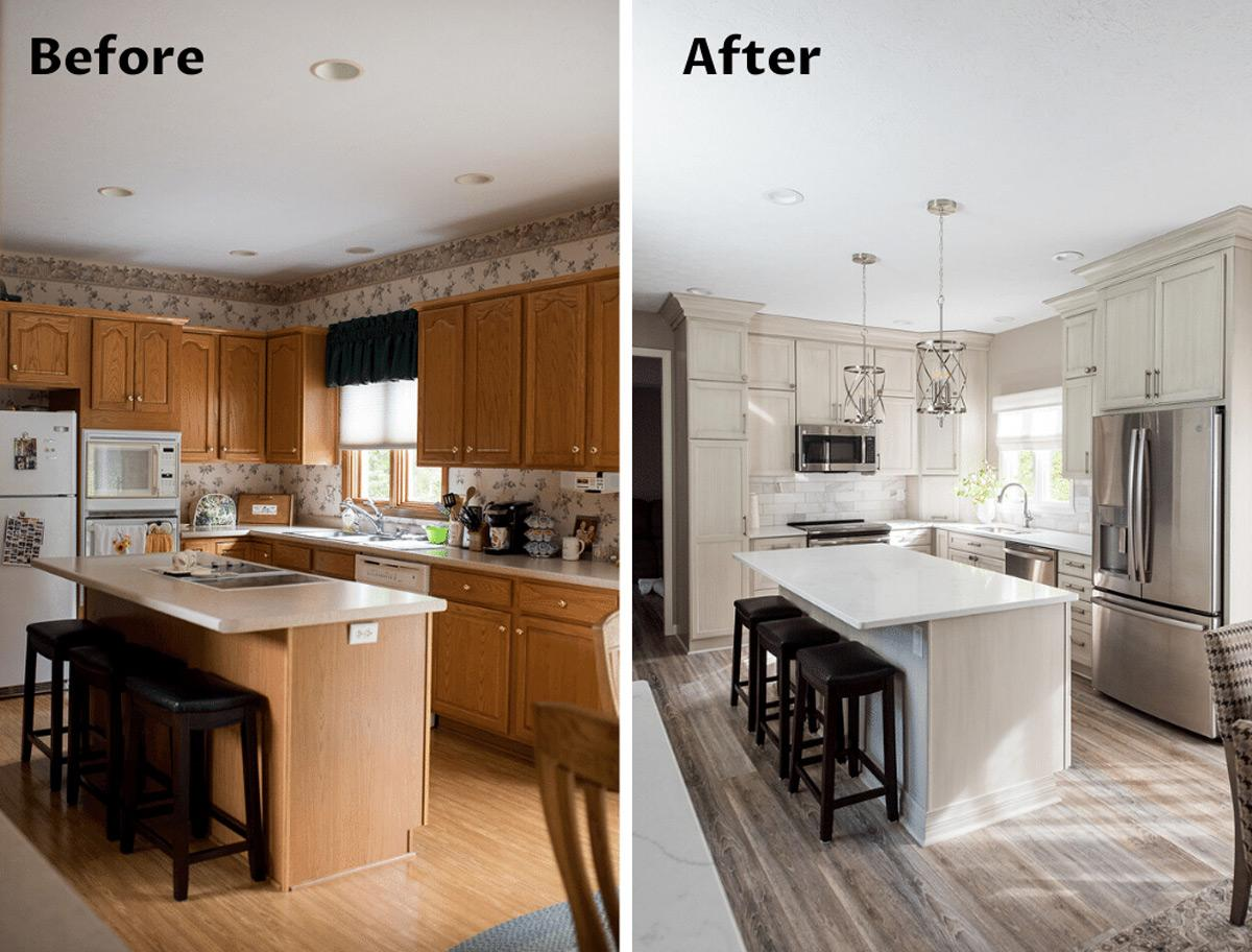 thay đổi không gian nhà bếp