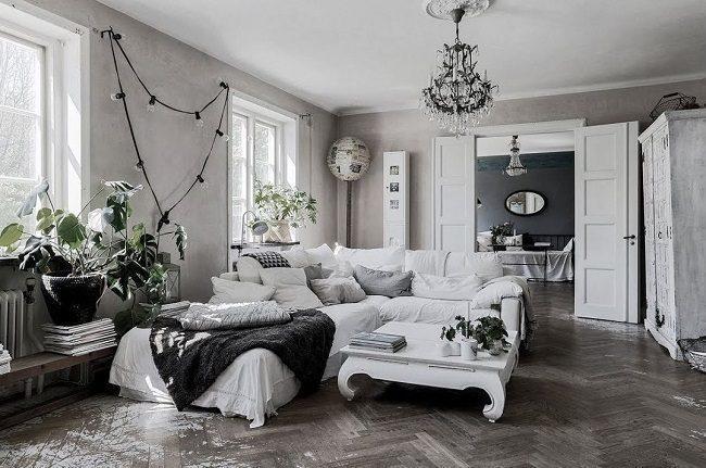 Scandinavian country interior design