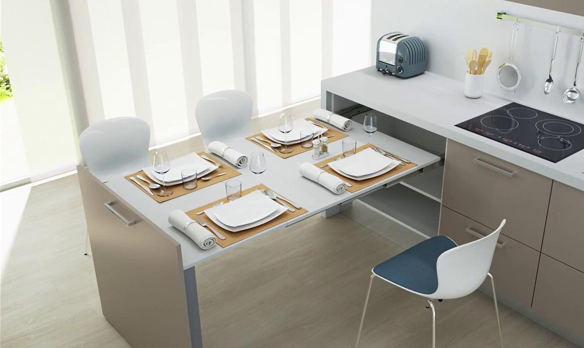 Các mẫu bàn ghế ăn độc đáo dành riêng cho phòng bếp nhỏ