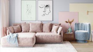 thiết kế nội thất theo tone màu pastel