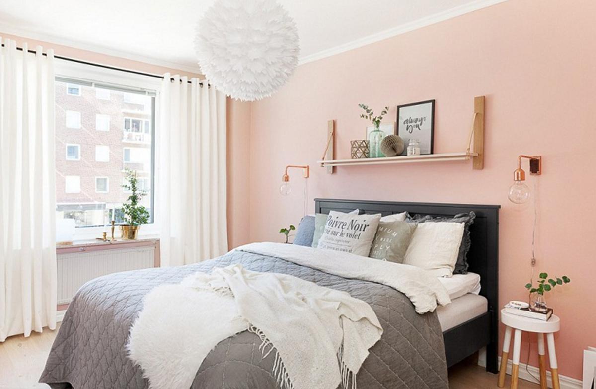 Phòng ngủ màu pastel