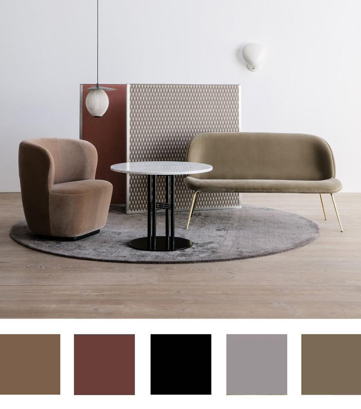 lựa chọn màu sắc nhẹ nhàng trong thiết kế
