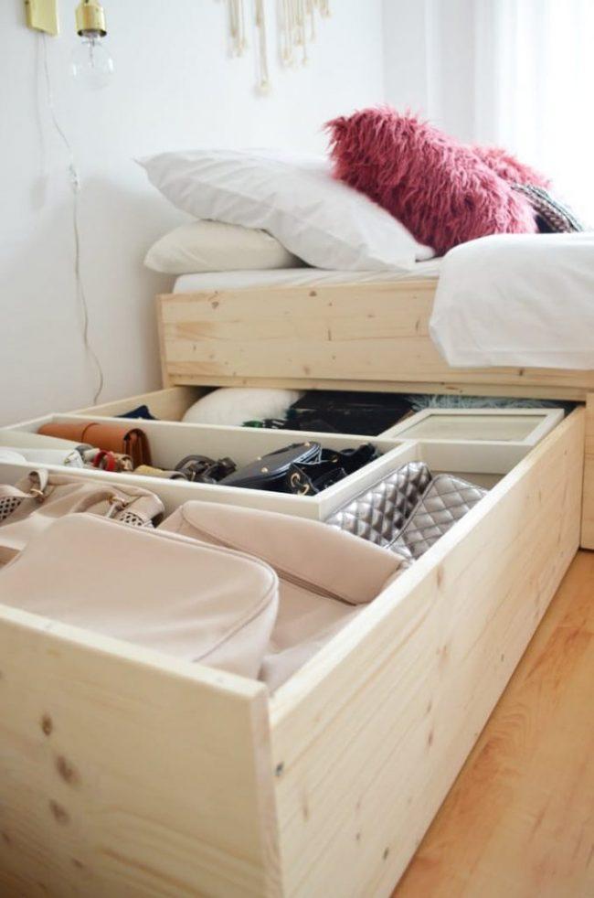 giường kết hợp tủ đồ