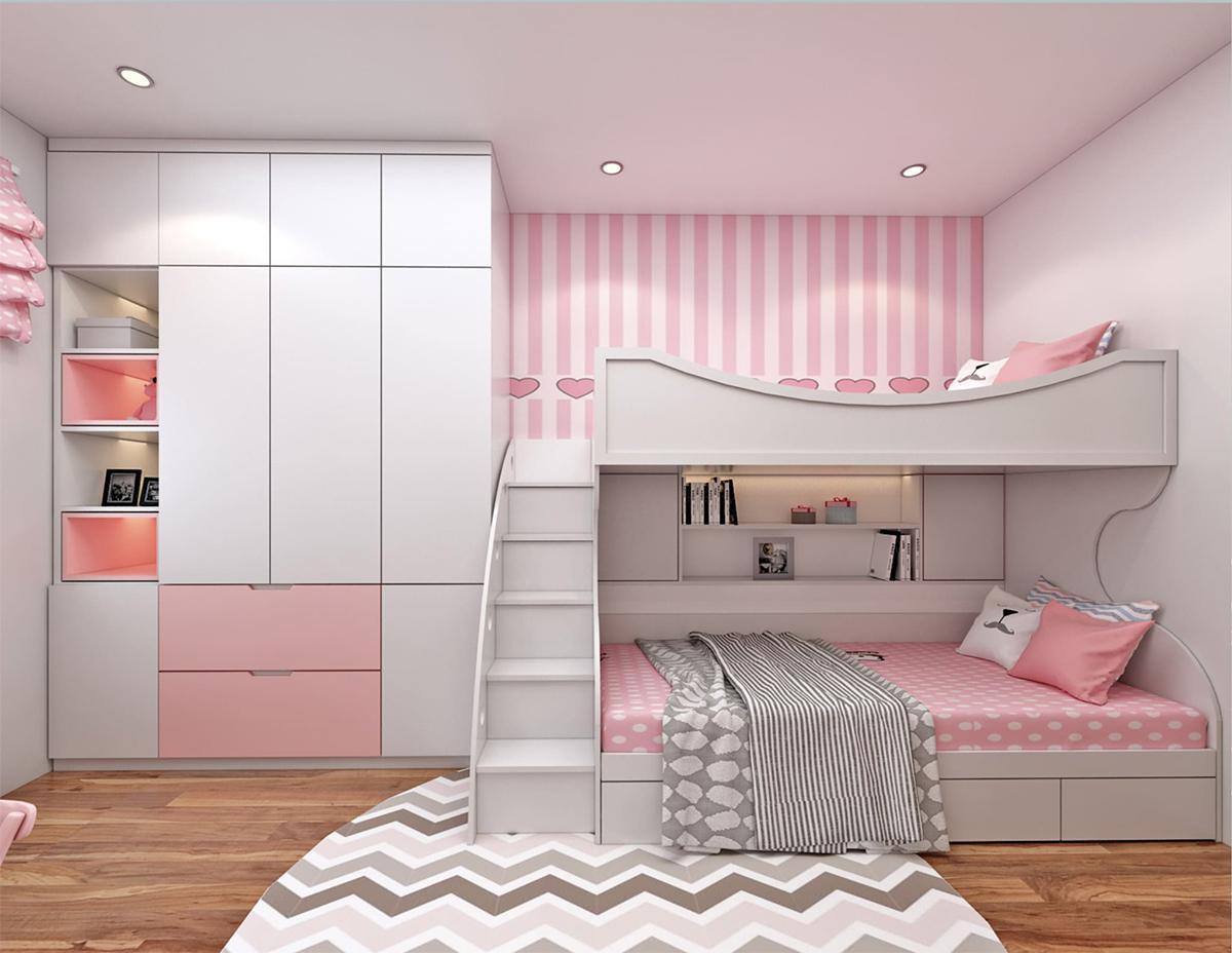 giường tầng cho bé gái