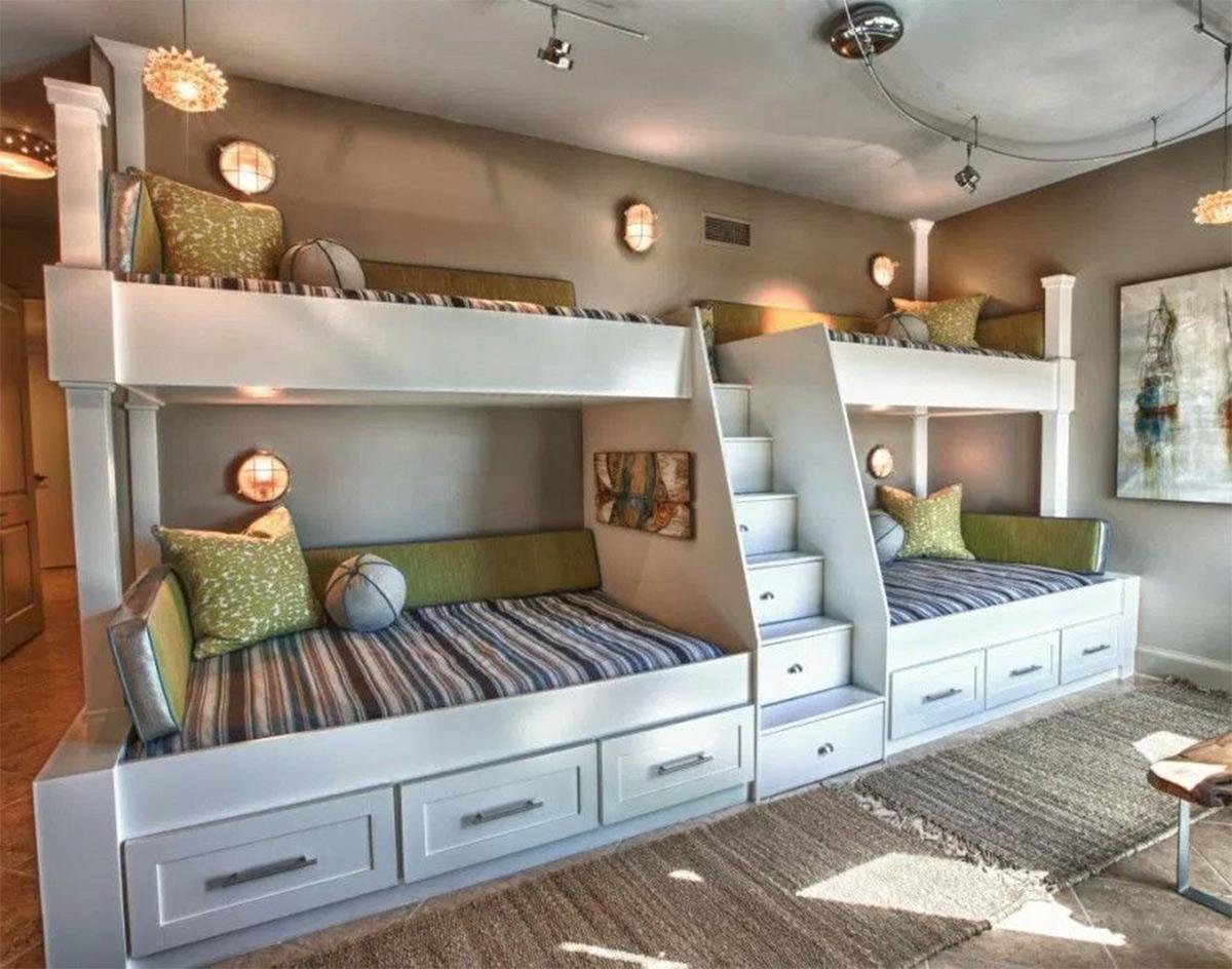 phòng ngủ cho nhà đông con