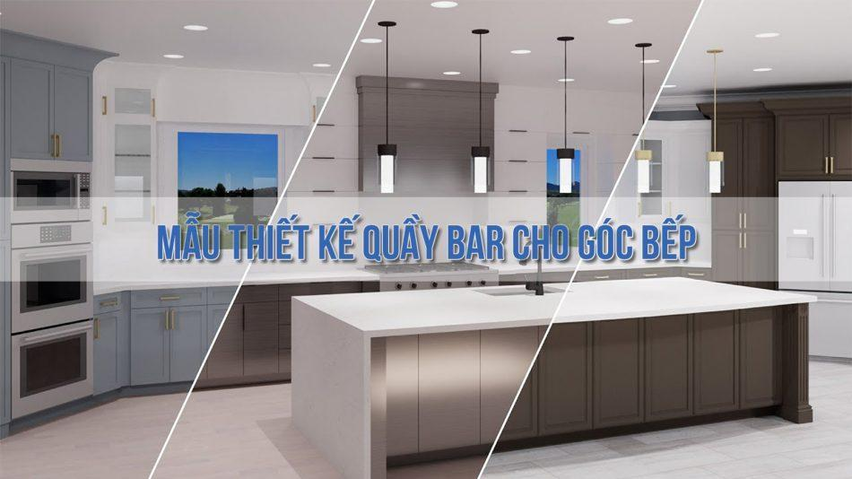 Mẫu thiết kế quầy bar cho góc bếp thêm trọn vẹn đẳng cấp