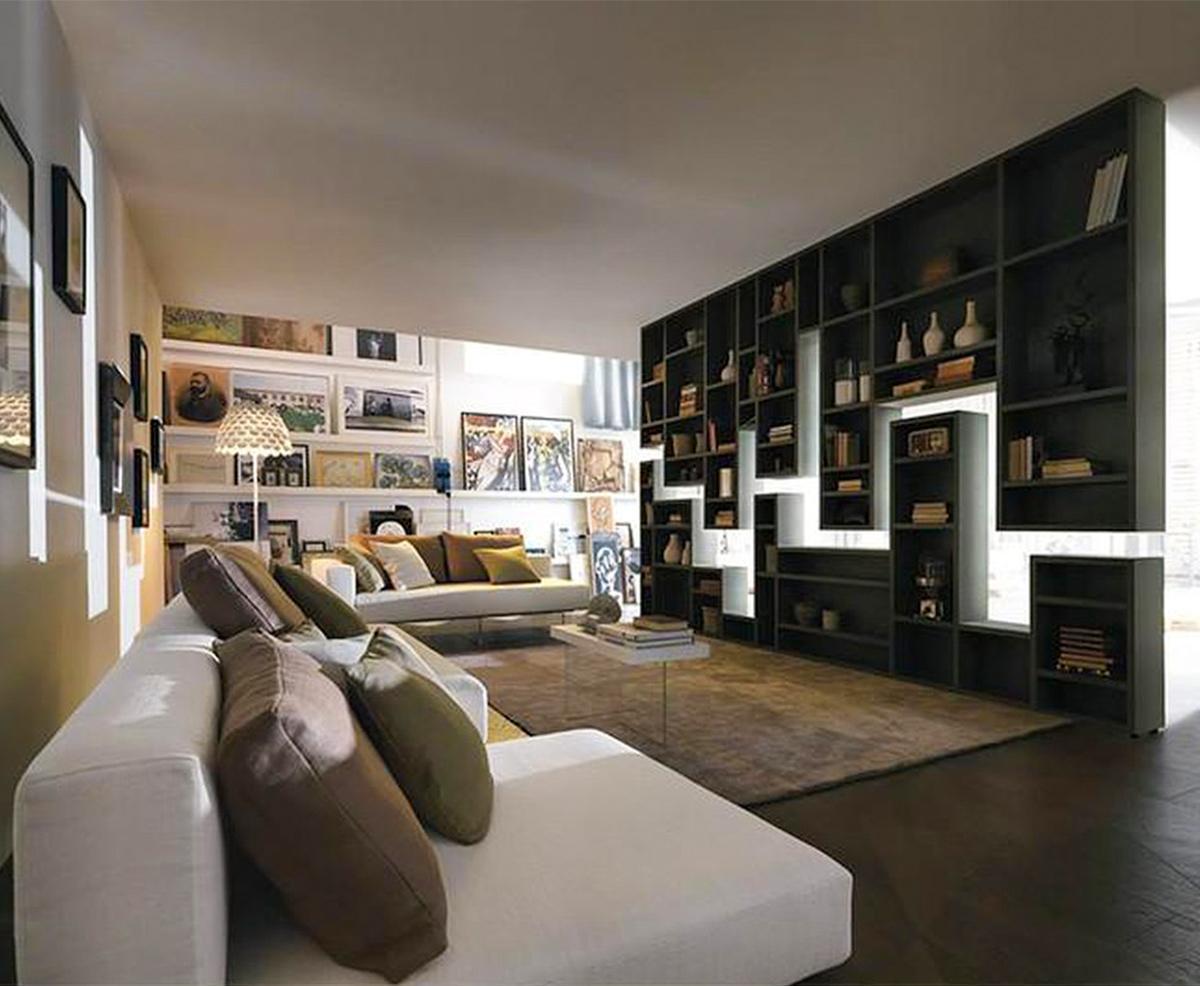 ý tưởng thiết kế vách ngăn trong phòng khách