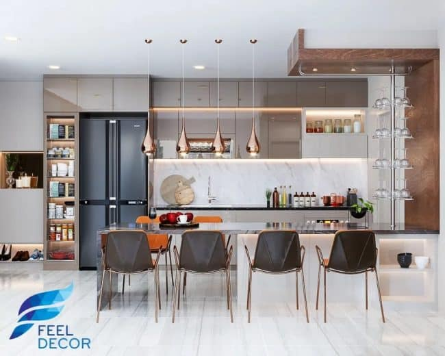 phòng bếp chung cư đẹp