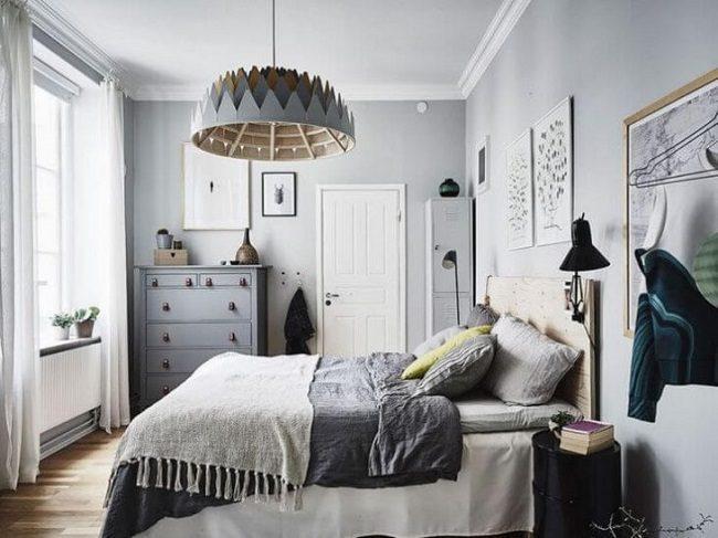 Phòng ngủ phong cách bắc âu cổ điển