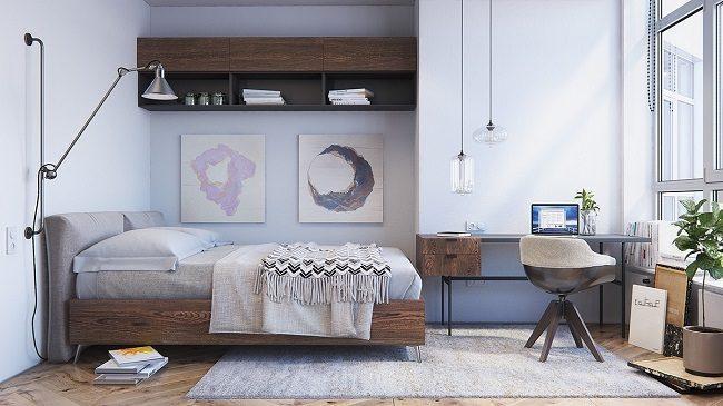 Phòng ngủ phong cách psstel scandinavian