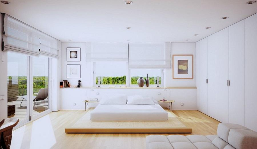 phòng ngủ tone trắng