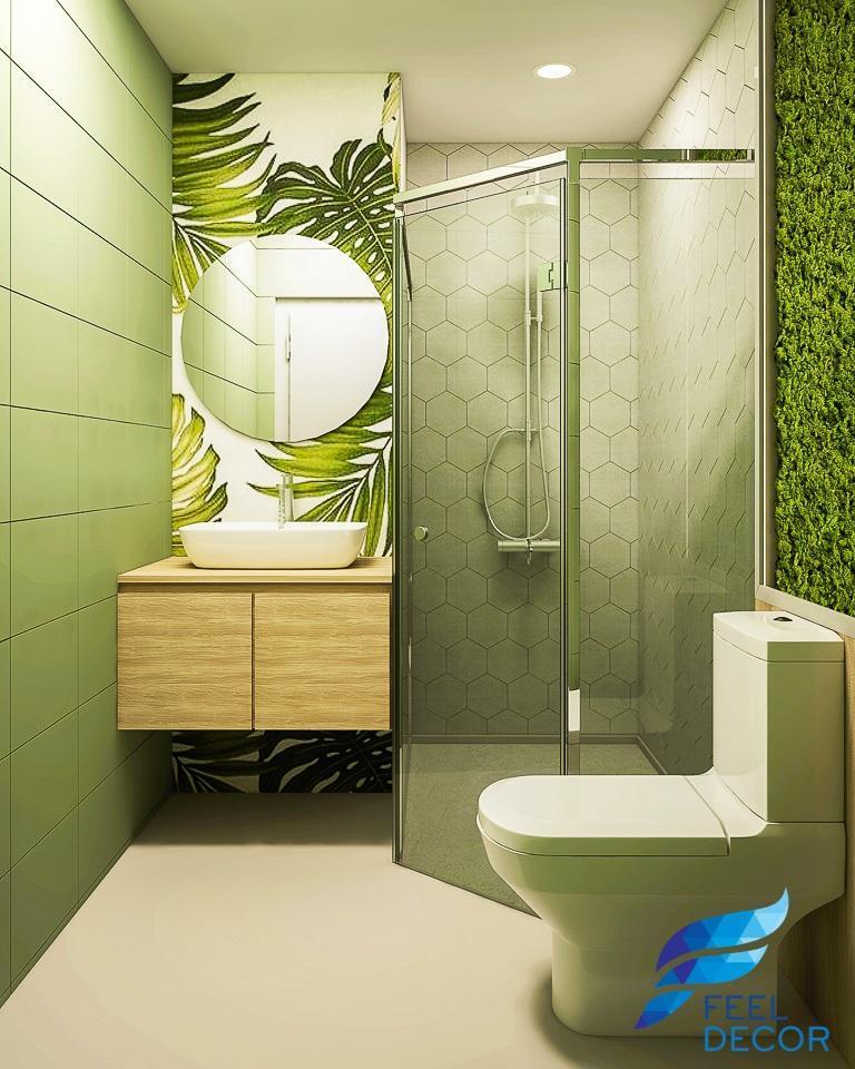 phòng vệ sinh phong cách tropical