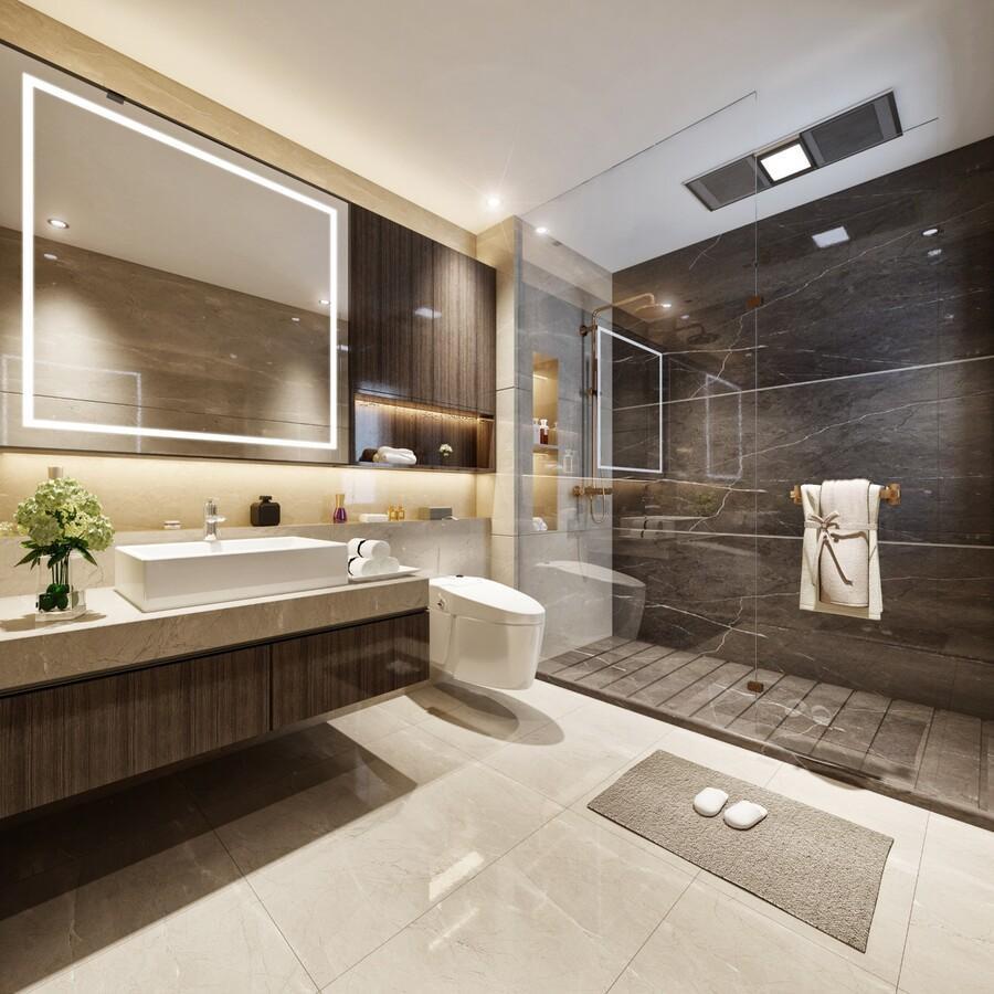 phòng vệ sinh ấm áp