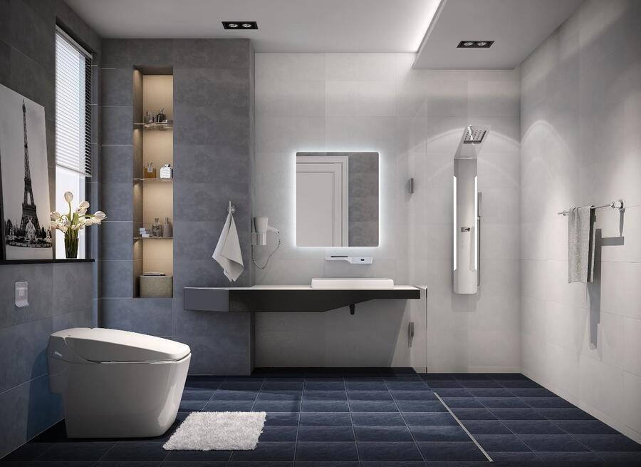 phòng vệ sinh đơn giản