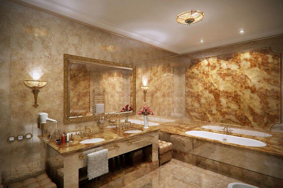 phòng vệ sinh gạch granit