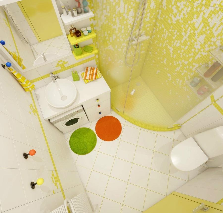 phòng vệ sinh màu sáng