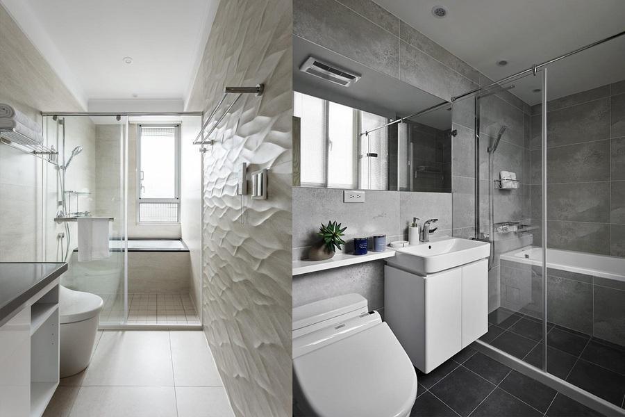 phòng vệ sinh màu trắng