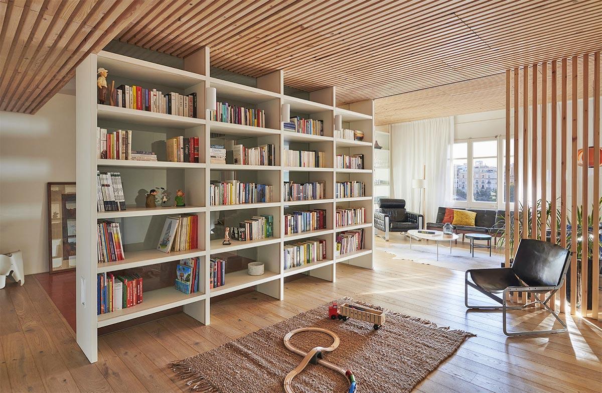 không gian phòng đọc sách