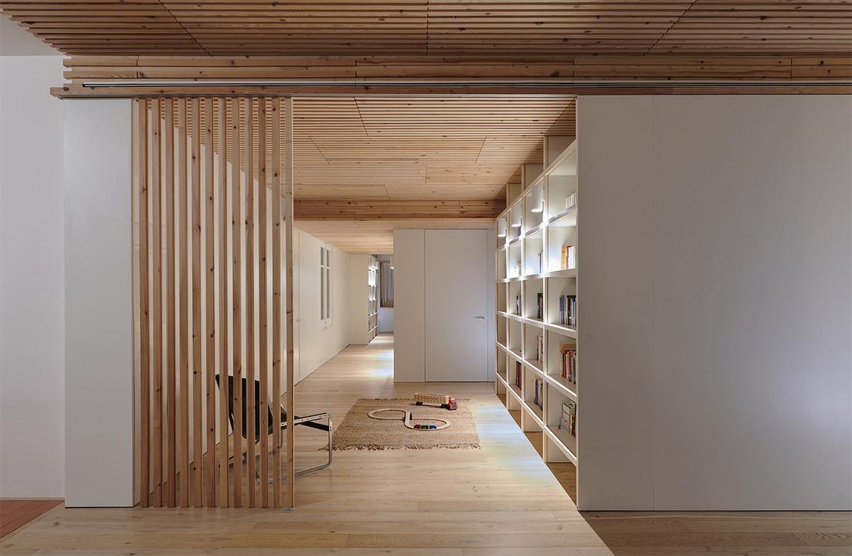 phòng đọc sách ấn tượng