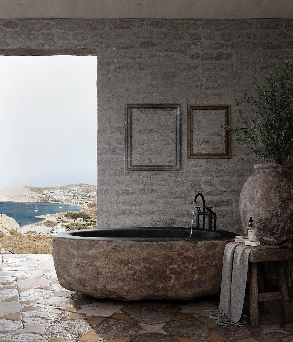 Không gian phòng tắm đẹp mắt