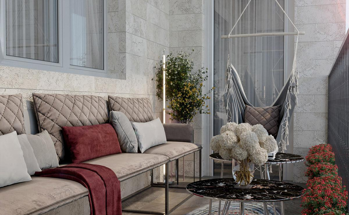 thiết kế nội thất phòng khách căn hộ đẹp