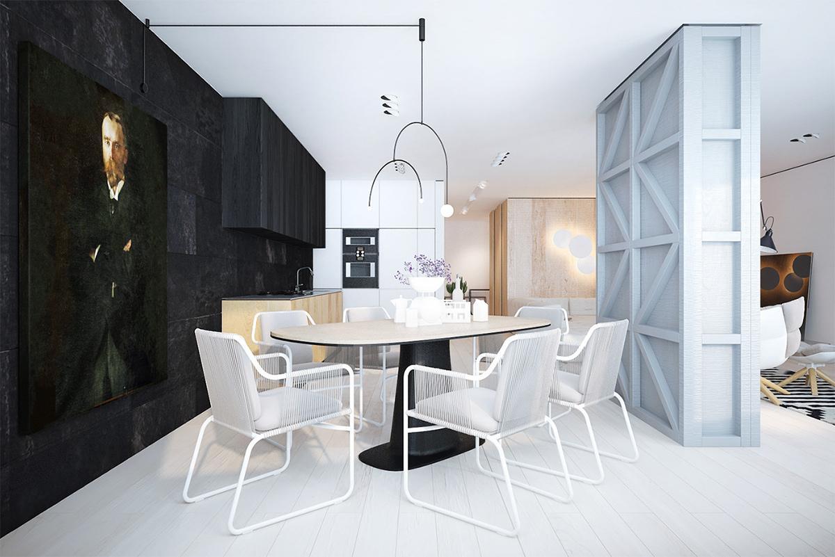thiết kế nội thất phòng bếp với phong cách minimalism