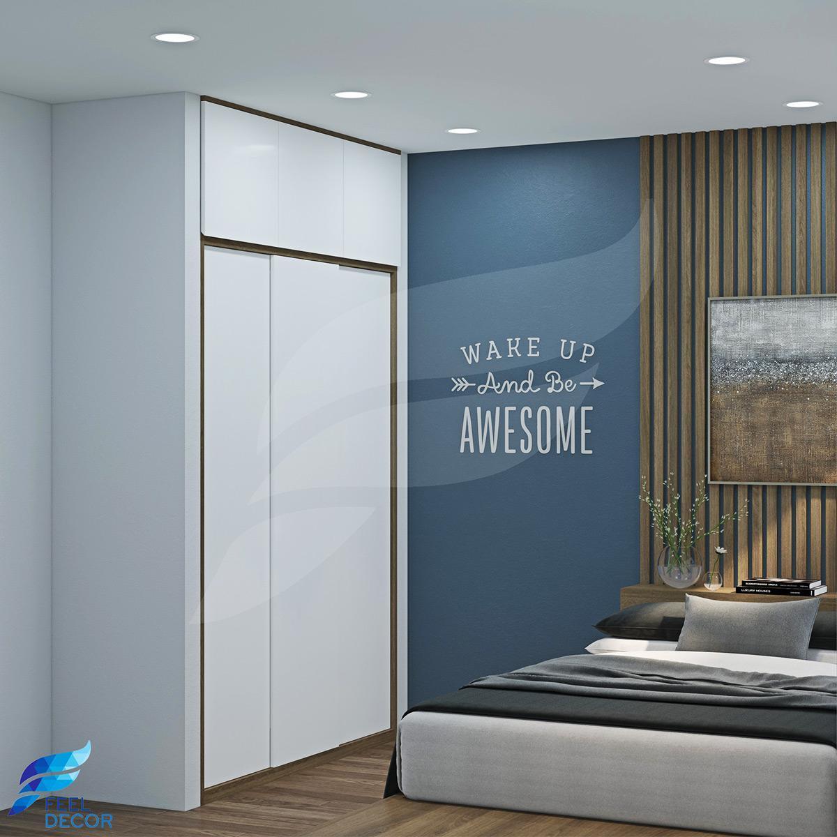 Thiết kế thi công nội thất phòng ngủ chung cư Hoàng Anh Thanh Bình